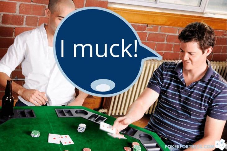 Many poker players never learn to muck correctly.